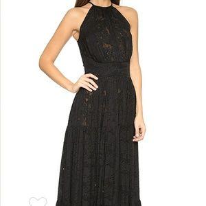 $795+❣️L'AGENCE Penelope Silk Maxi Lace Dress